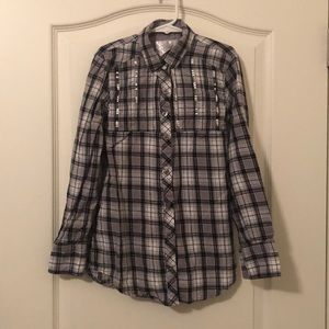 Girl's Justice button down top.  Sz 8